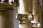 Columns in a manor house, Old Town, Palma de Mallorca, Mallorca, Spain