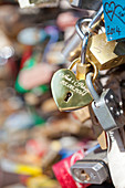 Czech Republic, Prague - Abundance of Love Padlocks on Railings., H44-10970804