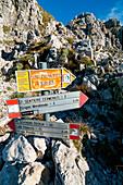 Trails Directions, Alta Via delle Grigne, Grigna Meridionale, Lecco, Lombardy, Alps, Italy, Europe