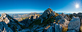 Panoramic View from the top of Mount Resegone, Lecco, Lombardy, Italy, Europe