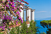 Villa Rufolo, Ravello, Amalfi coast, Salerno, Campania, Italy. The garden of Villa Rufolo