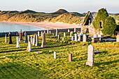 Old Cemetery in churchyard at ruin of Balnakeil church, Balnakeil, Sutherland Scotland