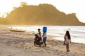 Filipinos in Nacpan Beach, El Nido, Palawan, Philippines