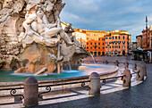 Fountain of Navona square Europe, Italy, Lazio, Rome Capital