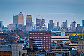 The financial district of Canary Warf, London, United Kingdom.