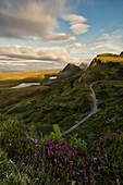 sunset at Quiraing, Isle of Skye, Inner Hebrides, Scotland, Europe