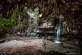 Su Stampu e su Turrunu waterfall, Seulo, Cagliari province, sardinia, italy, europe.