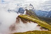 Seceda mountain, Odle, Bolzano province, Trentino Alto Adige region, Italy, Europe