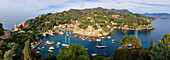 Panoramic of Portofino, province of Genoa, Liguria, Italy