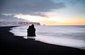 Reynisfjara beach from Dyrholaey viewpoint, Vik, Southern Iceland