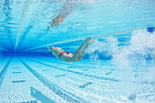 Olympic breaststroke swimming champion Adam Peaty during a pre Rio training session in the pool