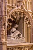 15th century gothic chapel with the 19th century pieta, the noble ruling damas digoine family, sacre coeur basilica and cloister, sacre coeur basilica and cloister, paray-le-monial (71), france