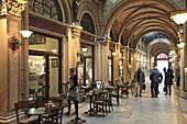 Austria, Vienna, Ferstel Passage, interior, cafes, shops, people