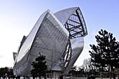 France, Paris, Bois de Boulogne, Louis Vuitton Foundation, architect Frank Gehry