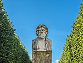 France, Ile de France, Yvelines, Bust of Esculape, Park of the Chateau de Rambouillet