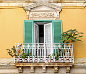 Italy, Apulia, Itria Valley, Martina-Franca, window with a balcony