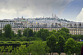 Europe France Paris Montmartre view from the terrace of the Musee d'Orsay