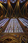 Europe, France, la Sainte Chapelle in Paris.