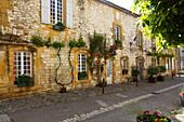 France, Nouvelle Aquitaine, Dordogne department (24), Monpazier, medieval village, the city hall, (Most beautiful village of France)