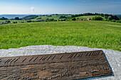 Panoramic display at vista-point Wolpadinger Aussicht, Wolpadingen, Albsteig, Black Forest, Baden-Wuerttemberg, Germany