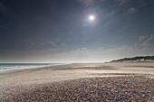 Beach, Sun, Seashell, Morning, Baltrum, North Sea, East Frisian Islands, East Frisia, Lower Saxony, Germany, Europe