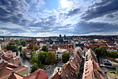 View over Erfurt from the tower of St. Ägidii, Thuringia, Eastgermany, Germany