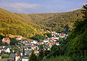 Schwarzburg in the Schwarza valley, Thuringia woods, Thuringia, Eastgermany, Germany
