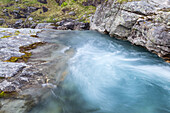 Rapids in the river Alnesvatnet, More and Romsdal, Fjord norway, Southern norway, Norway, Scandinavia, Northern Europe, Europe