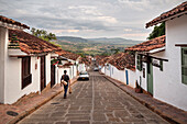 steep alleys with fantastic views at surrounding area of Barichara, Departmento Santander, Colombia, Southamerica