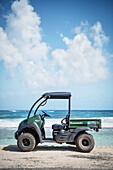 typical vehicle (golf buggy) at San Andres Island,  Departamento San Andrés and Providencia, Colombia, Caribbean Sea, Southamerica
