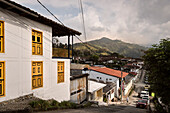 typical colonial architecture at Salento, UNESCO World Heritage Coffee Triangle, Departmento Quindio, Colombia, Southamerica