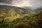 view from Salento at Cocora Valley, UNESCO World Heritage Coffee Triangle, Departmento Quindio, Colombia, Southamerica