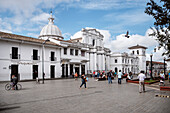 cathedral at main square of Popayan, Departmento de Cauca, Colombia, Southamerica