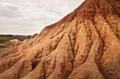 surreal landscape at Tatacoa desert (Desierto de la Tatacoa), township Villavieja nearby Neiva, Departmento Huila, Colombia, Southamerica