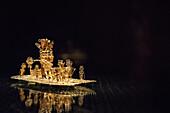 main attraction the golden raft of Eldorado, the gold museum (Museo del Oro), capital Bogota, Departmento Cundinamarca, Colombia, Southamerica