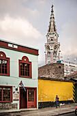 Santuario Nuestra Señora del Carmen church tower, capital Bogota, Departmento Cundinamarca, Colombia, Southamerica