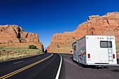 travelling in a Camper van through Arizona, USA
