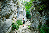 Through the five kilometre long canyon Gole di Celano leads an exciting walking track