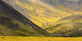light and shadow on the hills  near the village of Djupivogur, Eastfjords, Iceland