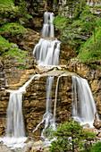 Waterfall Kuhfluchtfall, Farchant, Ester range, Bavarian Alps, Werdenfels, Upper Bavaria, Bavaria, Germany