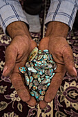 Turquoise for sale, Iran, Asia