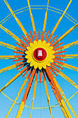 Ferris wheel at the fair Dom with Hamburg Symbol, Hamburg, Germany