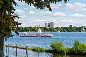 Tourist boat, Außenalster, Hamburg, Germany