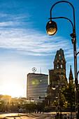 Sunrise, Europacenter, Kaiser Wilhelm Memorial Church, Breitscheitplatz, Berlin, Germany