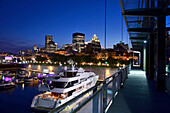 Nightspot to downtown from the harbour, Montreal, Quebec, Canada