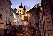 At Alexander Nevski Catedral on the Catedral hill, Tallinn, Estonia