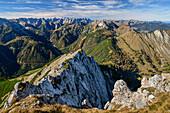 Karwendelblick von der Seebergspitze, Karwendel, Tirol, Österreich