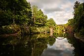 Rakotz Bridge, Azalea and rhododendron park Kromlau, Gablenz, Goerlitz district, Saxony, Germany