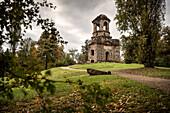 Mercury Temple, Schwetzingen castle, Rhine-Neckar district, Baden-Wuerttemberg, Germany