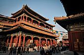 visitors at Yonghe Temple (aka Lama Temple), Beijing, China, Asia